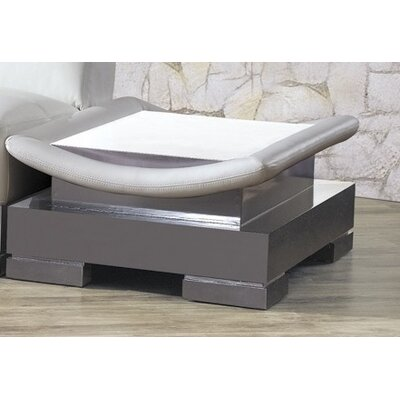 Mirage Leather Sectional End Table