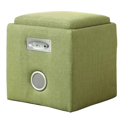 Reverb Storage Ottoman Upholstery: Green