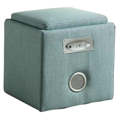 Reverb Storage Ottoman Upholstery: Blue