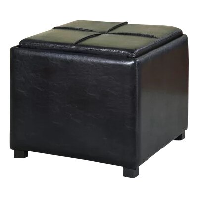 Flappers Storage Ottoman Upholstery: Black