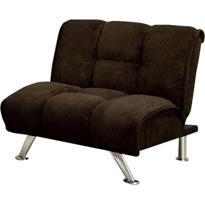 Oberon Convertible Chair Upholstery: Brown