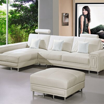Furniture gt living room furniture gt ottoman gt sectional for Marthena 2 piece white leather sectional sofa with ottoman