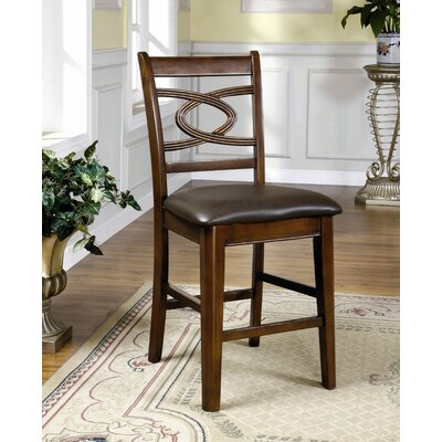 Carlton Leatherette Counter Height Dining Chair in Dark Espresso (Set of 2)