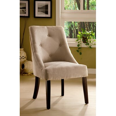Low Price Hokku Designs Uptown Microfiber Dining Chair Upholstery: Mocha
