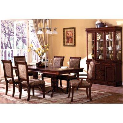 Hokku designs nikolas 7 piece dining table set in cherry for Hokku designs dining room furniture