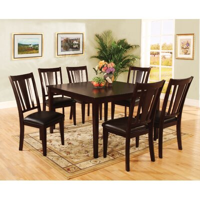 Piece Round Dining Table Set In Espresso KUI2472 Dining Table Mall