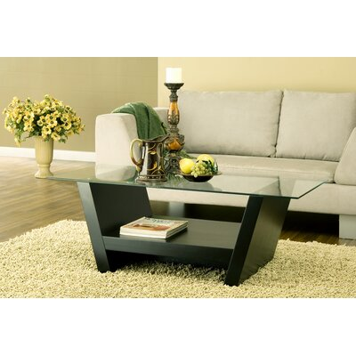 Brayden Studio Toscano Coffee Table in Black