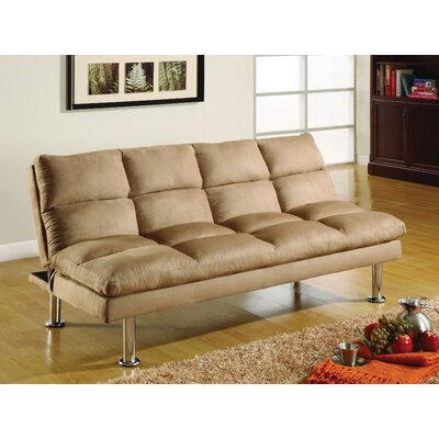 Saratoga Convertible Sofa Upholstery: Beige
