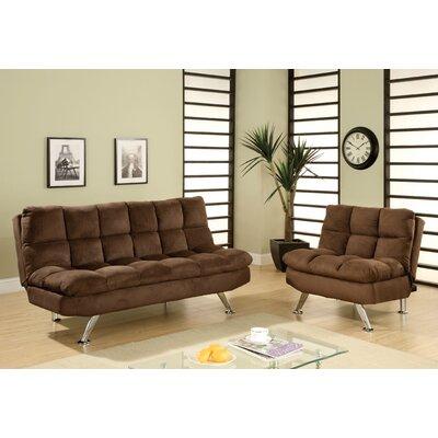 Hokku Designs JEG-3016DC 3QD Brooks Convertible Sofa and Chair Set