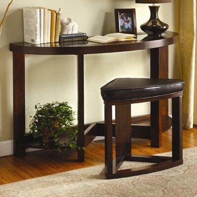 Cheap Hokku Designs Cristel 2 Piece Sofa Table with Stool Set in Dark Walnut (KUI2314)