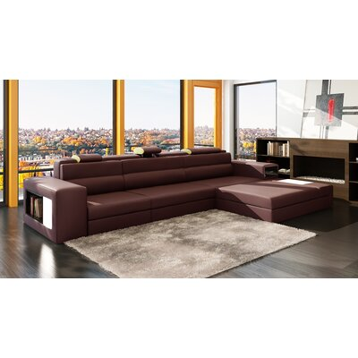 Ashley Esmarelda Sectional Upholstery: Brown / Beige