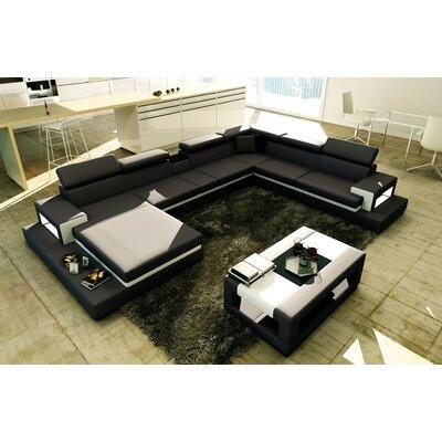 Sophia Sectional Upholstery: Black