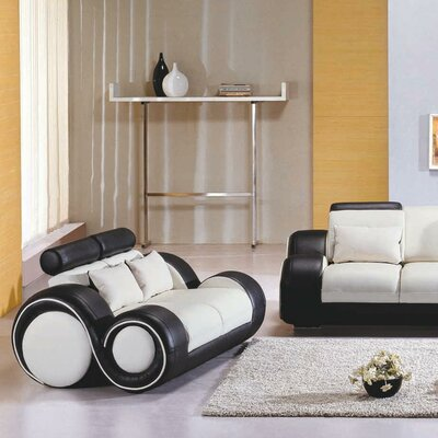 Hematite Lounge Chair Upholstery: White / Black