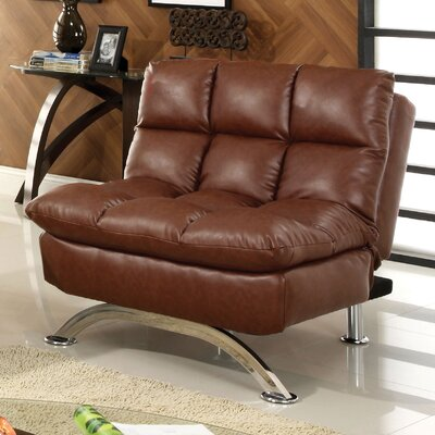 Aristo Convertible Chair Upholstery: Reddish Brown