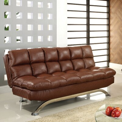 Aristo Sleeper Sofa Upholstery: Reddish Brown