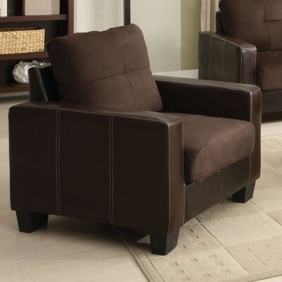 Townsend Armchair Upholstery Color: Chocolate