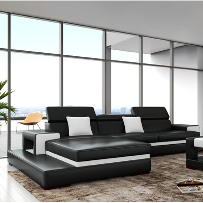 Sophia Sectional Upholstery: Black