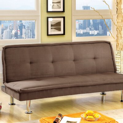 JEG-3012 KUI2398 Hokku Designs Convertible Sofa with Chrome Legs