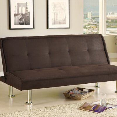 Hokku Designs JEG-3012DIP Convertible Sofa with Chrome Legs