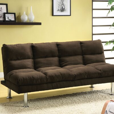 Saratoga Convertible Sofa Upholstery: Brown