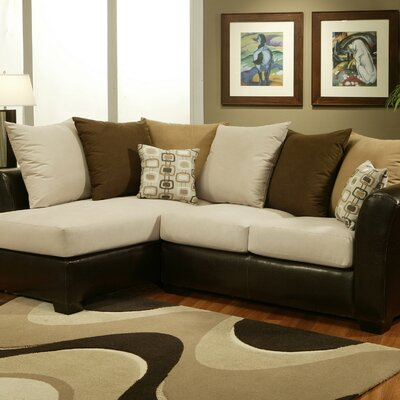 Sectional Sofa on Hokku Designs Lennox Microfiber 2 Piece Sectional Sofa