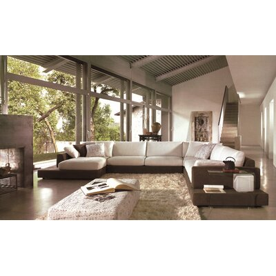Baxton Sectional Upholstery: Brown / Beige