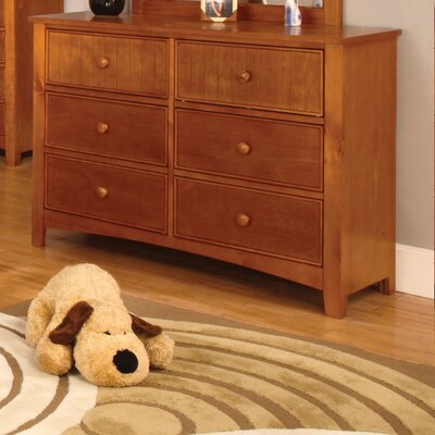 Bedford 6 Drawer Dresser Color: Oak