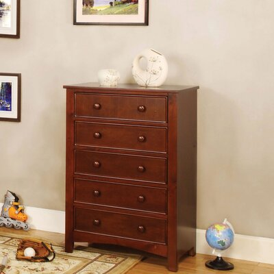 Bedford 5 Drawer Chest Color: Cherry