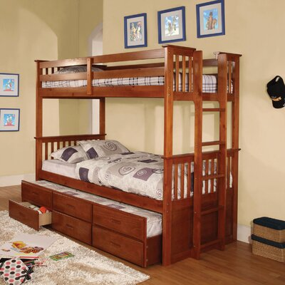 Orion Twin Over Twin Bunk Bed in Oak