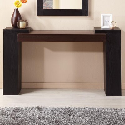 Modal Two Tone Console Table Black Console Tables