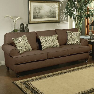 Linea Sofa Upholstery: Brown