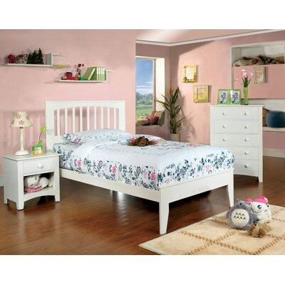 Alma Slat Bed Finish: White, Size: Twin