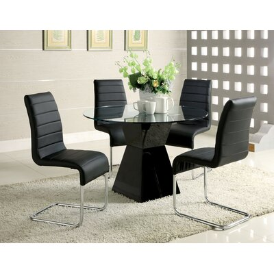 Monaco 5 Piece Dining Set Finish Black