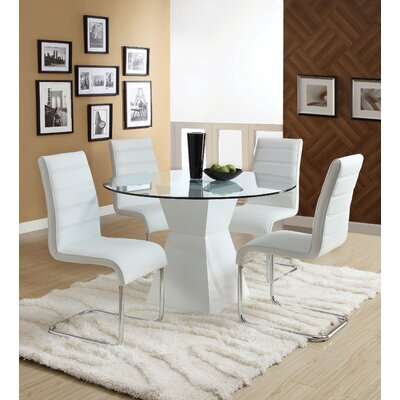 Monaco 5 Piece Dining Set Finish White