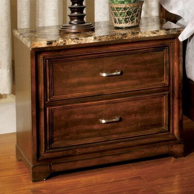 Brunswick 2 Drawer Nightstand