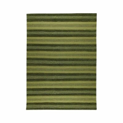 Grenada Green Striped Area Rug Rug Size: 46 x 66