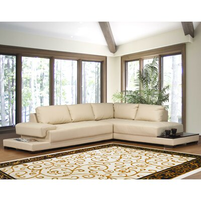 Ruby Sectional Upholstery: Beige