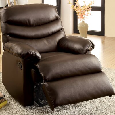 Lindstrom Manual Glider Recliner Upholstery: Dark Brown