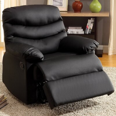 Lindstrom Manual Glider Recliner Upholstery: Black