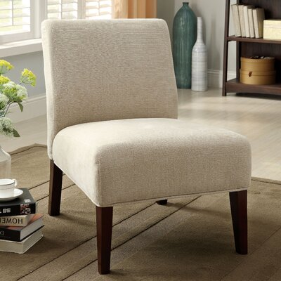 Dean Cotton Slipper Chair Upholstery: Ivory