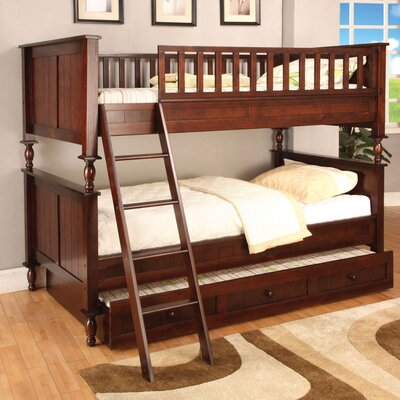 Easy furniture financing Milton Twin over Twin Bunk Bed with...