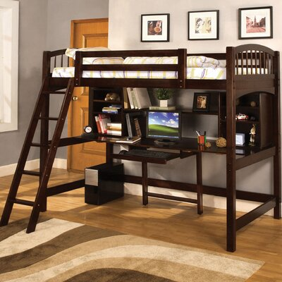 Furniture rental Alexis Twin Loft Bed with Desk and ...
