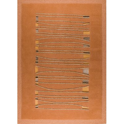 Ambrose Orange Area Rug Rug Size: 83 x 116
