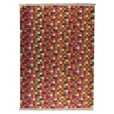Checkers Multi Rug Rug Size: 66 x 99