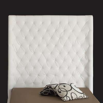 Penthouse Upholstered Panel Headboard Upholstery: White, Size: King