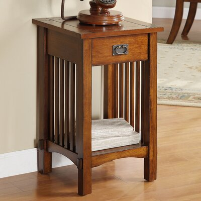 Oakcrest End Table With Storage