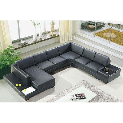 Artistant Sectional Upholstery: Black, Orientation: Left Hand Facing