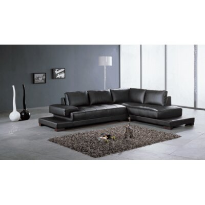 Ruby Sectional Upholstery: Black