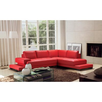 Ruby Sectional Upholstery: Red
