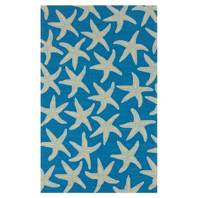 Rain Teal/Blue Indoor/Outdoor Area Rug Rug Size: 2 x 3